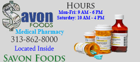 Savon Medical Pharmacy home page ad